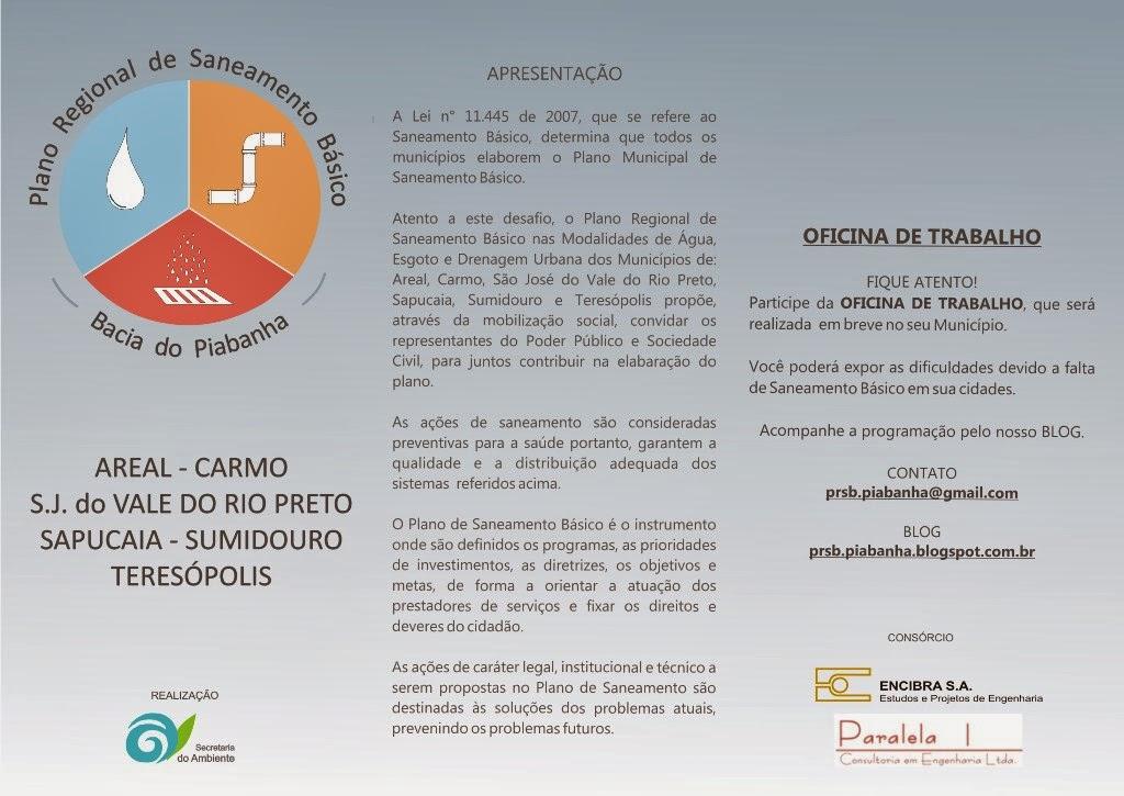 População convidada para oficina do Plano de Saneamento de Teresópolis