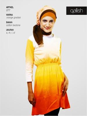 Cotton twotone orange gradasi 077
