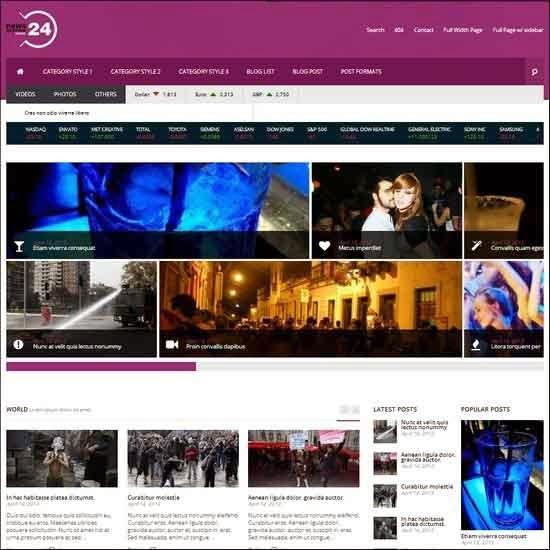 NEWS24 | 4 in 1 News/Magazine Wordpress Theme