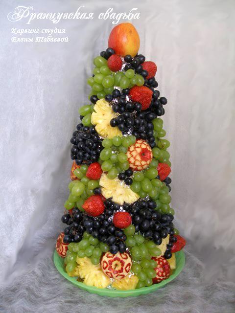 фруктовый карвинг фуршет в французском стиле