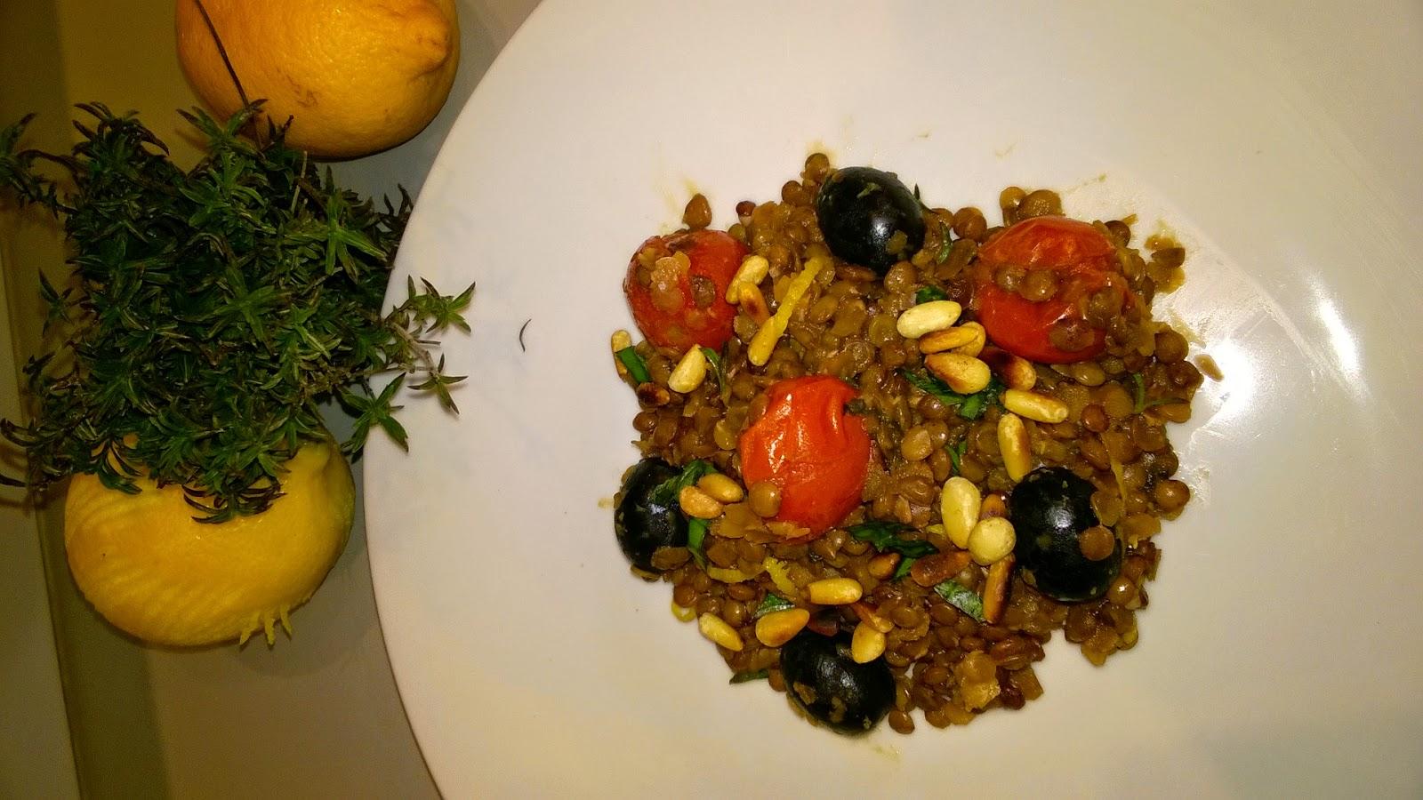 Lentilles à la méditerranéenne infusées au citron
