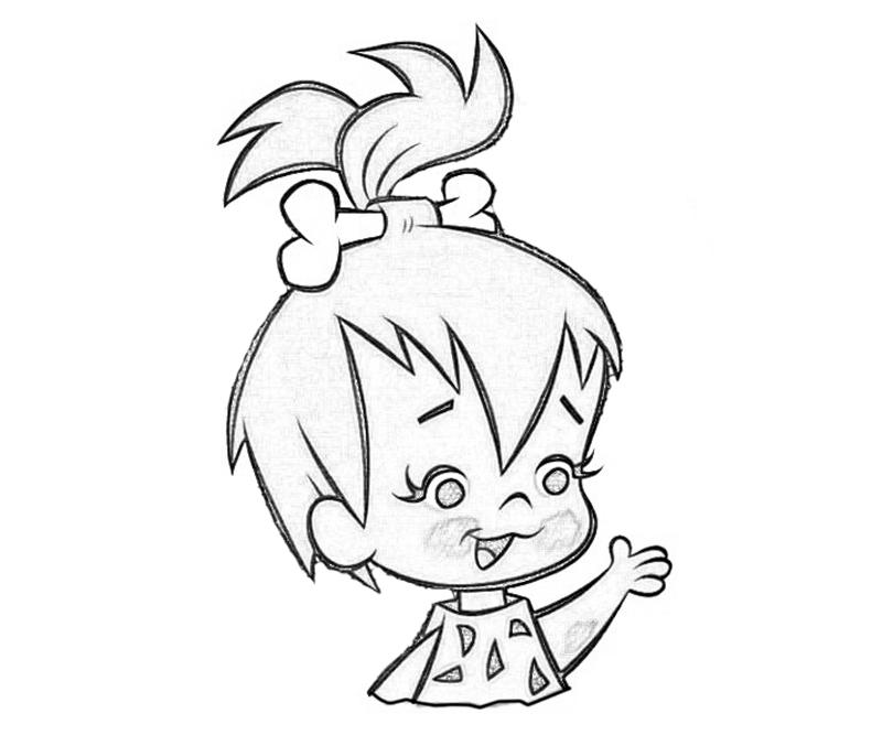 pebbles and bambam coloring pages - photo#15
