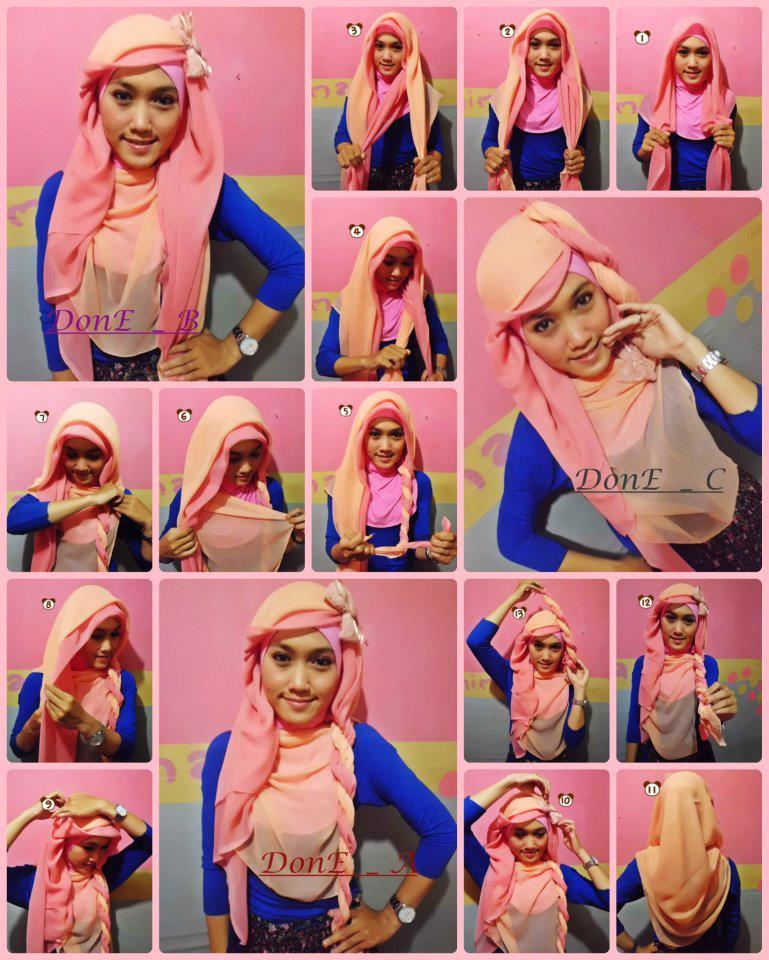 Hijab Style: Tutorial Hijab paris n pasminha Cute