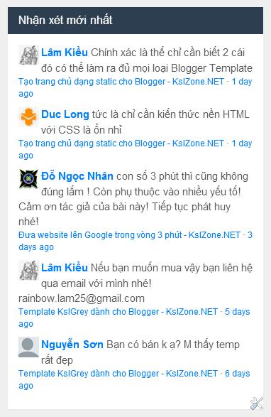 Một số widget của Disqus cho Blogger