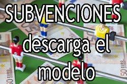 Subvenciones Deportivas: Descarga el Modelo