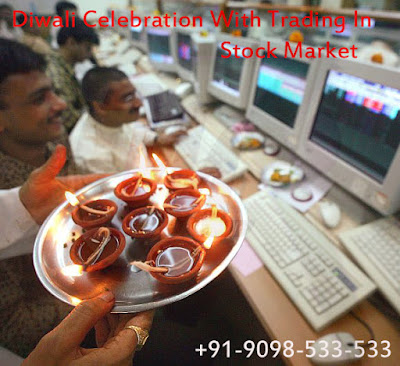 Diwali celebration with trading in stock market