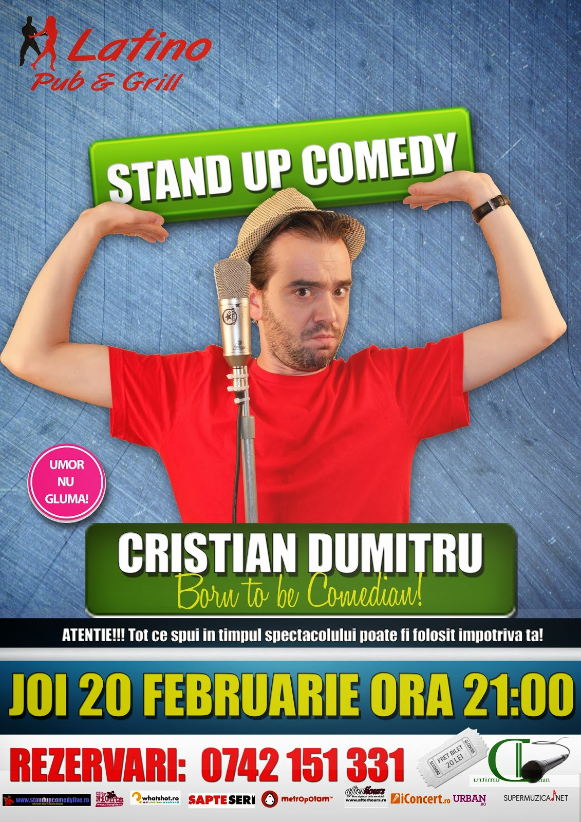 stand up comedy joi 20 februarie