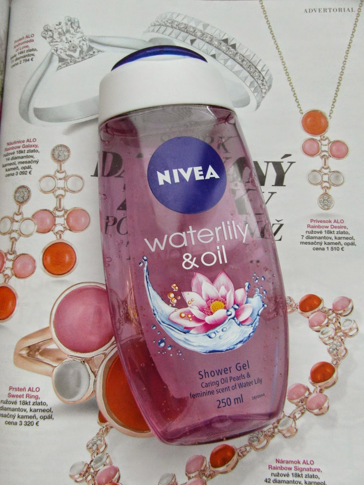 Sprchový gél Nivea - waterlity and oil