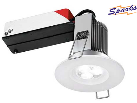 8W LED dimmable fire rated bathroom downlight