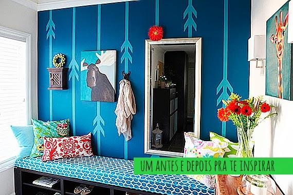 Faça você mesma - pintura de parede com fita crepe