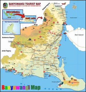 Peta Wisata Banyuwangi, Wisata Banyuwangi, Pesona Wisata Banyuwangi