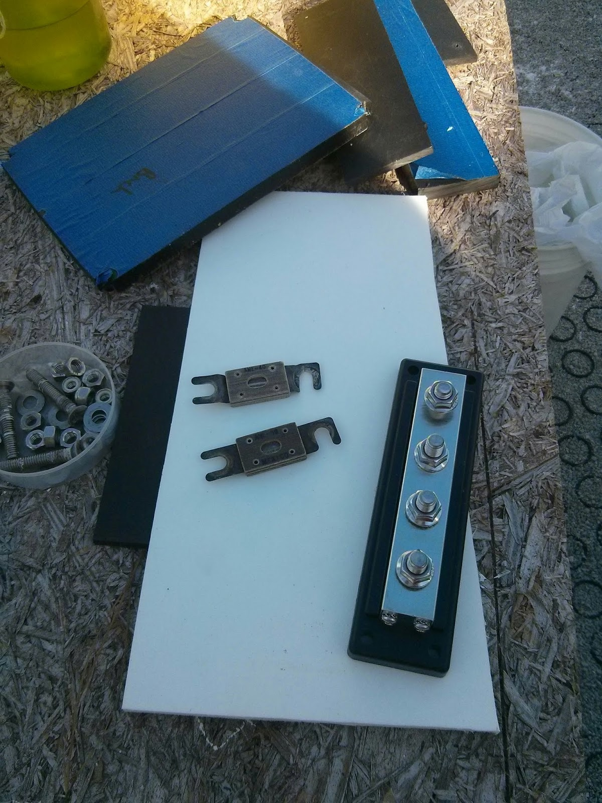 Homemade Fuse Box For Boat Explained Wiring Diagrams Small Projects Making Life Aboard Easier Fabricating A Diy Panel