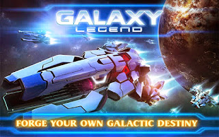 Screenshots of the Galaxy Legend for Android tablet, phone.