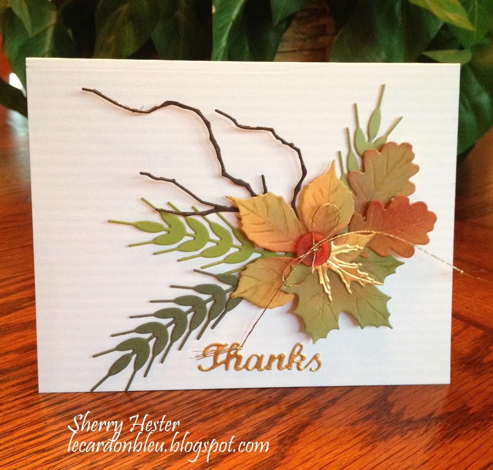 Сделать открытку с листьями