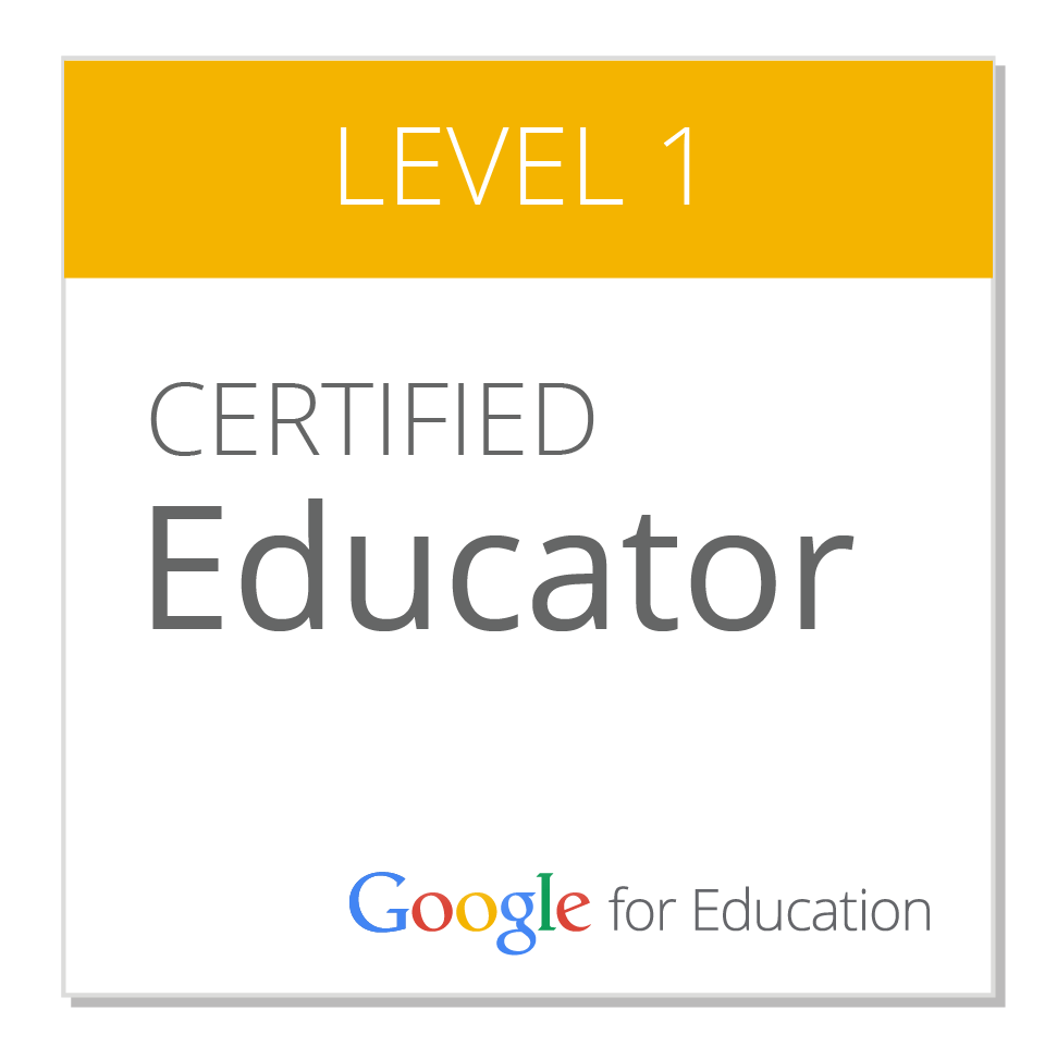 Google Level 1 Certified Educator