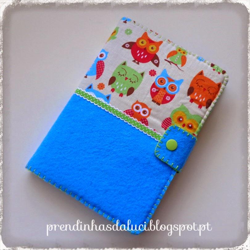 notbook em feltro e tecido