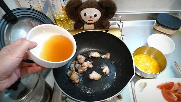 トマ玉チキンあんかけ焼きそばの作り方(3)