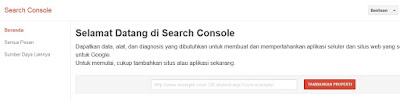 langkah-langkah mendaftar google webmaster tools