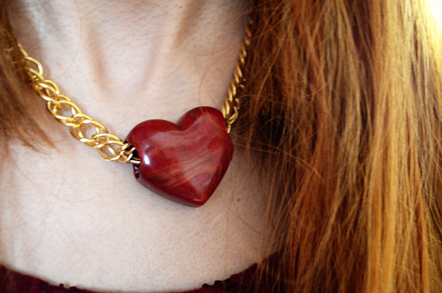 asos heart necklace