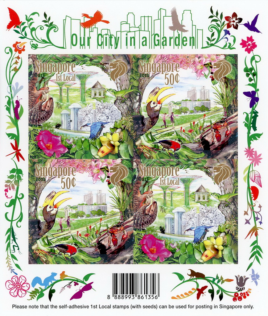 Our City In A Garden - Self-adhesive Sheetlet (4 Stamps)