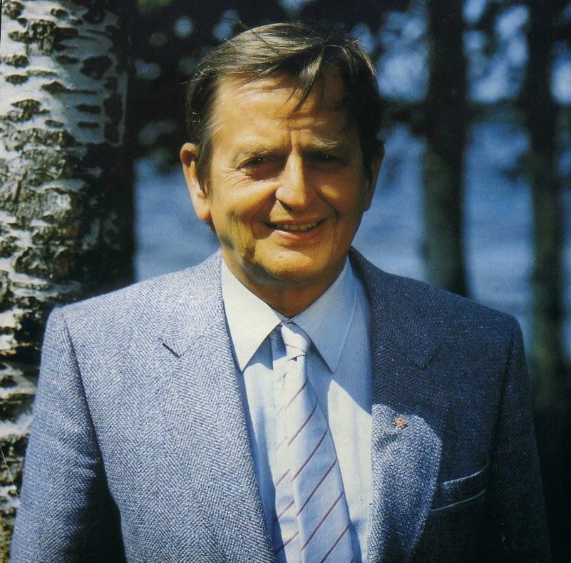 Sven Olof Joachim Palme (Estocolmo, Suecia, 30 de enero de 1927 - 28 de febrero de 1986)