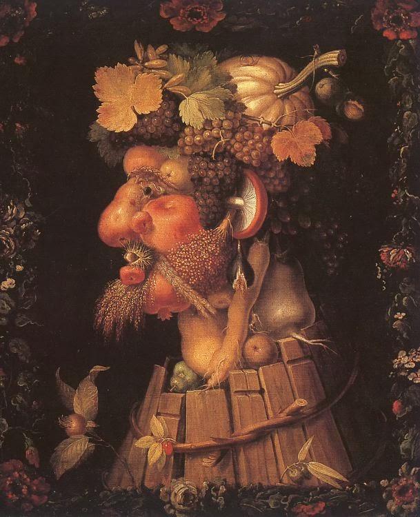 Arcimboldo Giuseppe ~ Autumn, 1573, Louvre Museum, Paris