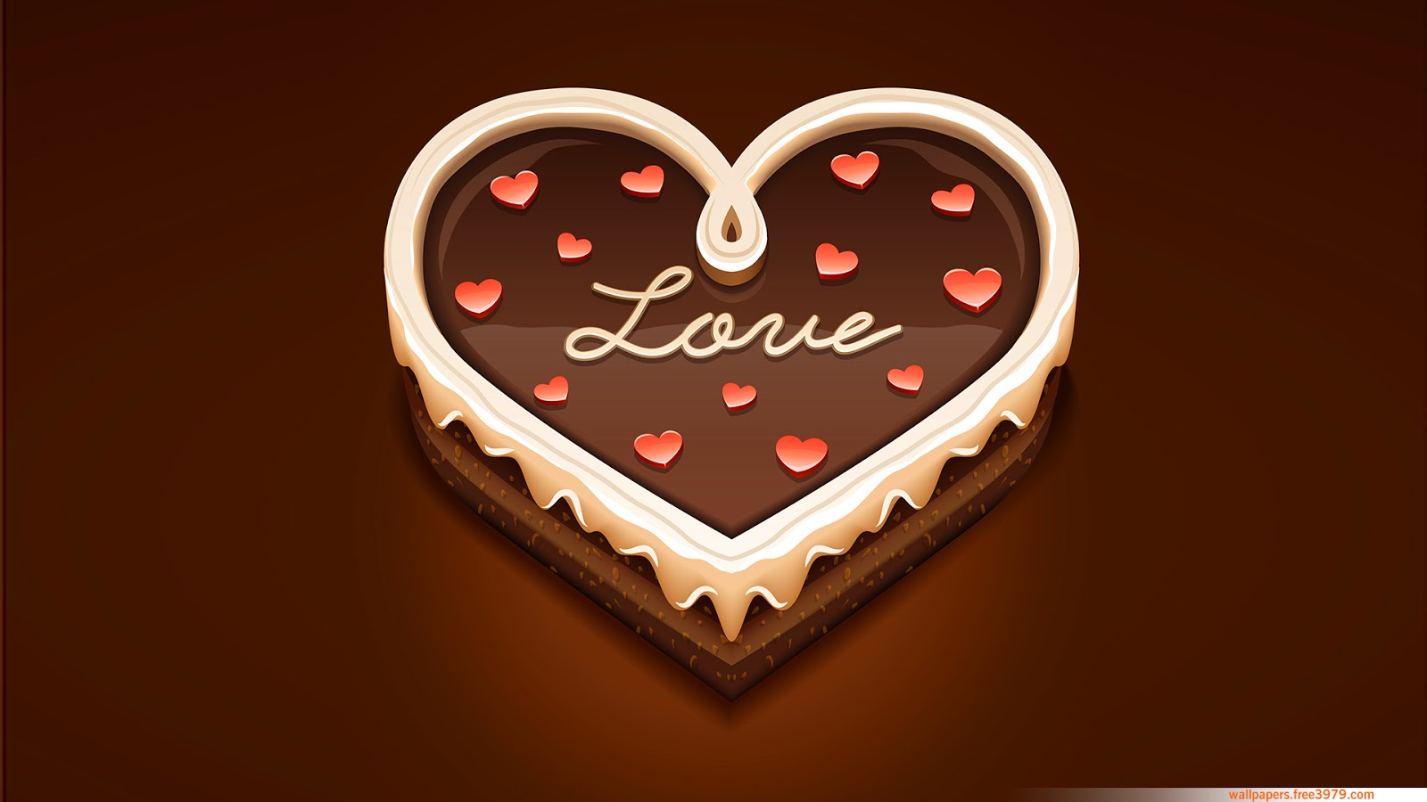 love heart sweet chocolate 3d hd wallpapers