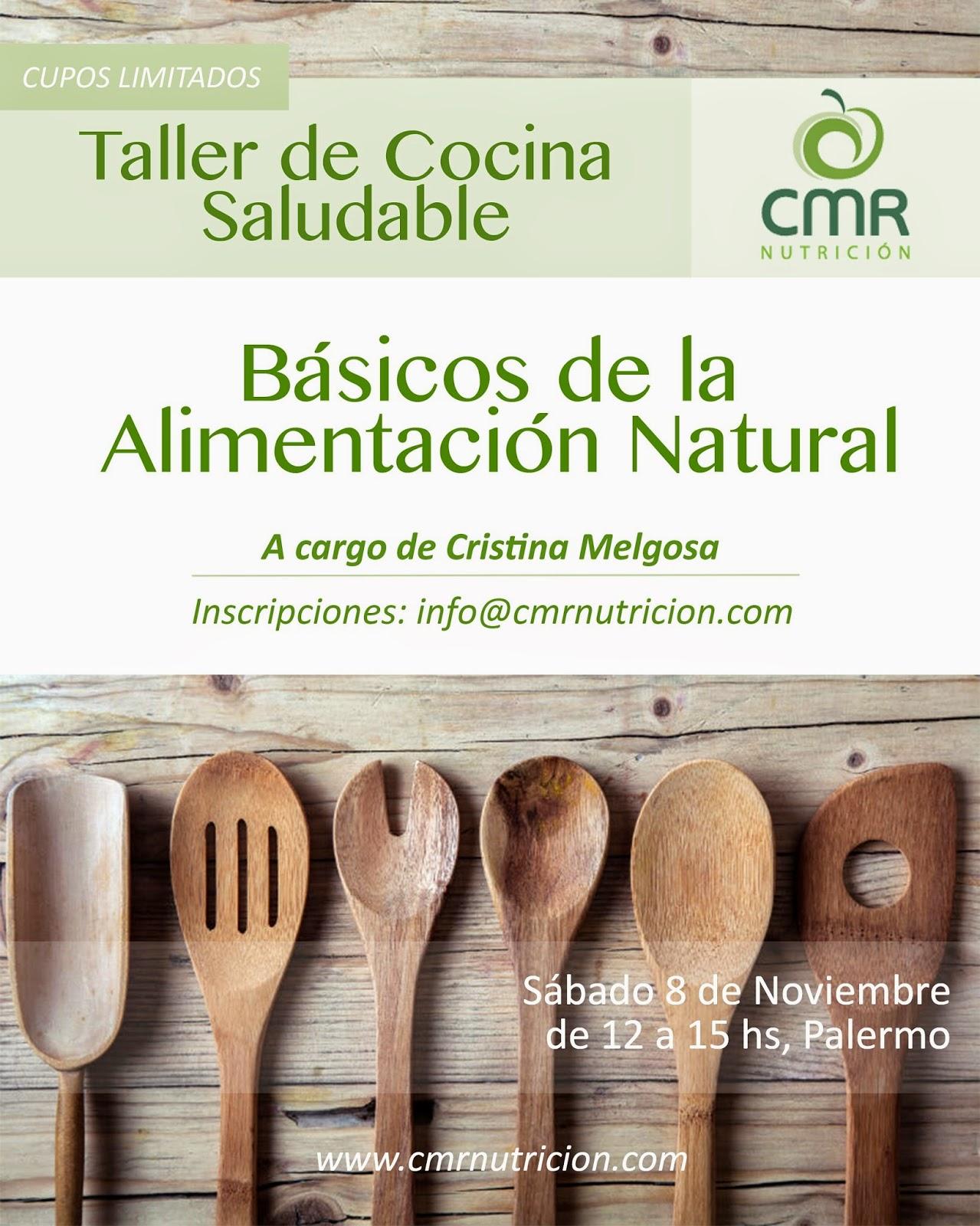 Cmr nutrici n taller de cocina saludable b sicos de la for Cocina saludable