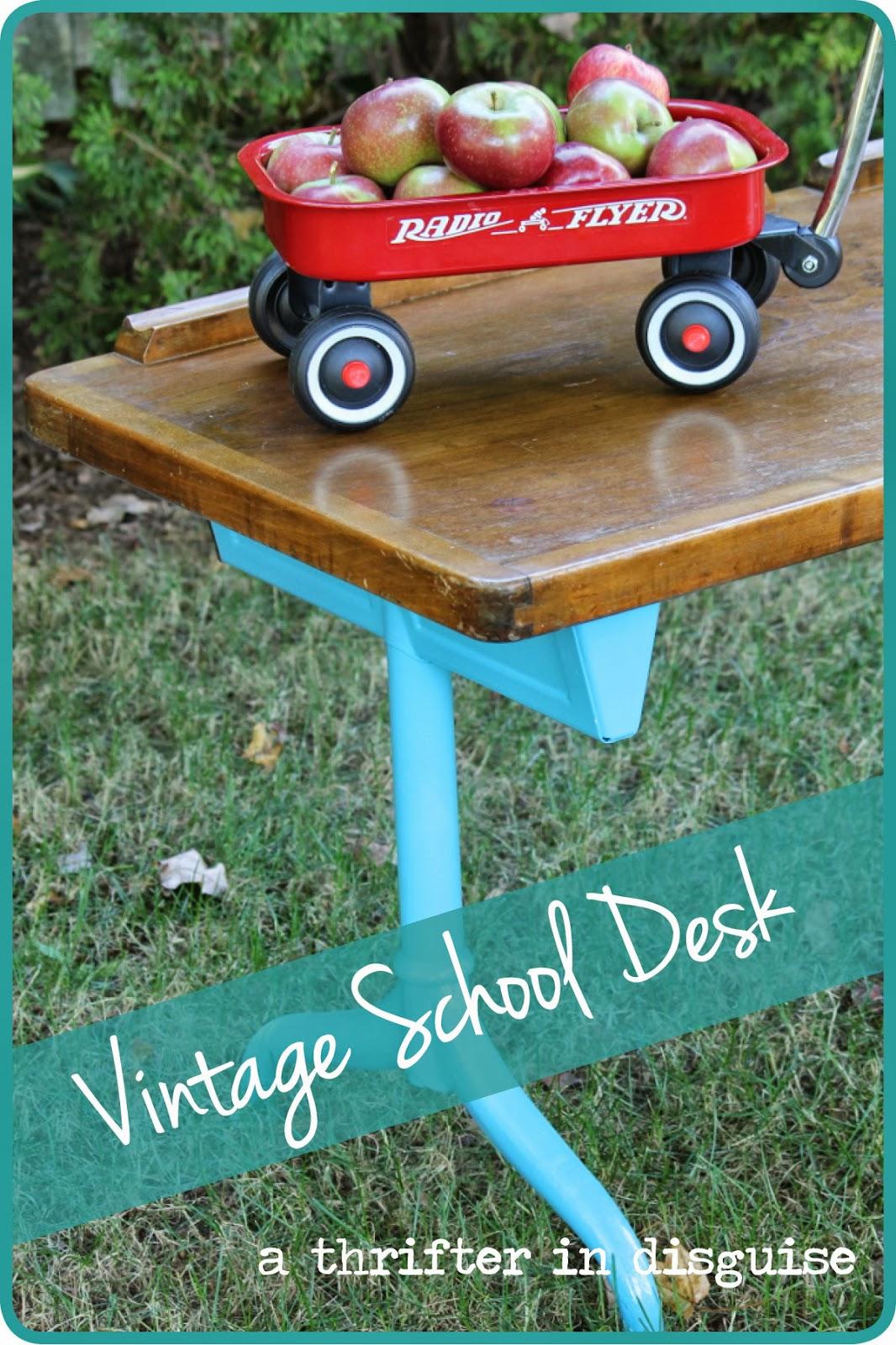 http://www.thrifterindisguise.com/2013/09/vintage-childrens-desk-super-quick.html