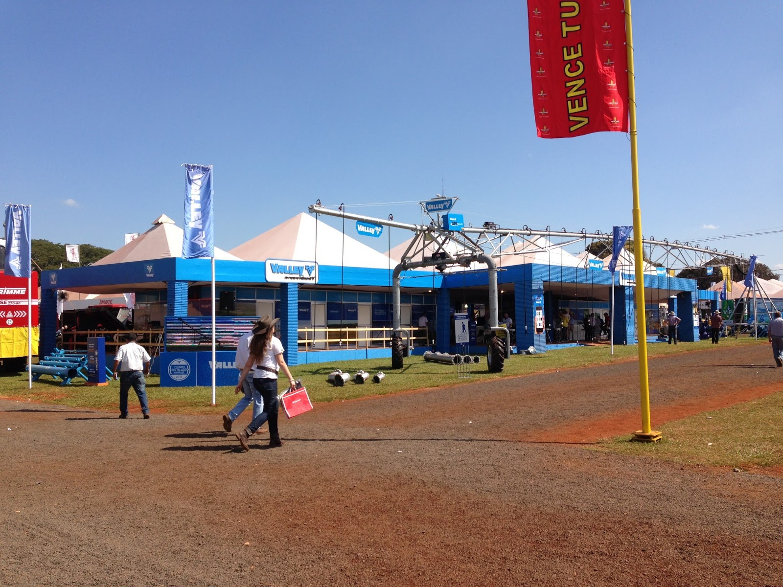 Valley Irration booth at Agrishow in Brazil