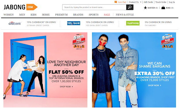 Jabong shopping website