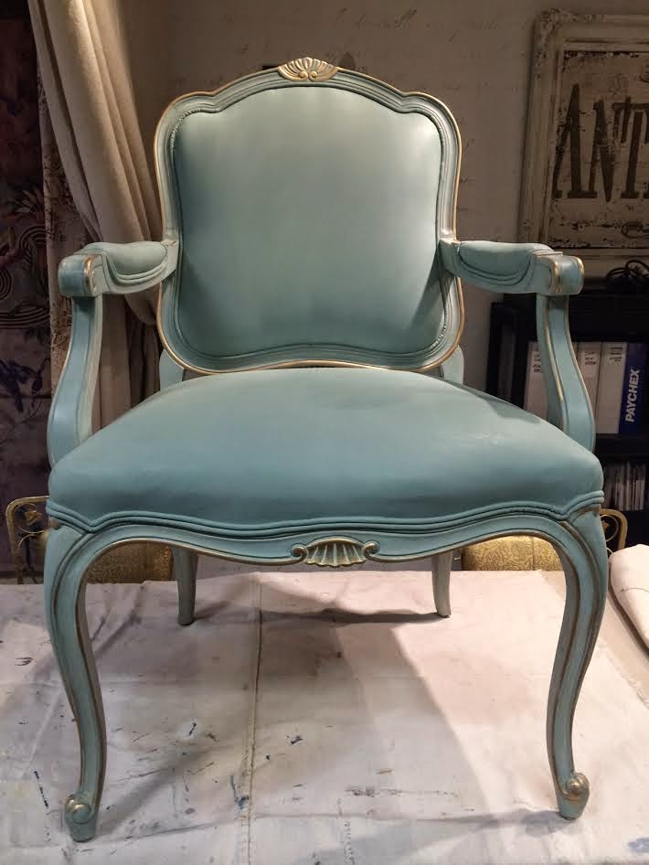 Painted Chair: Fabric And Frame, French Style!