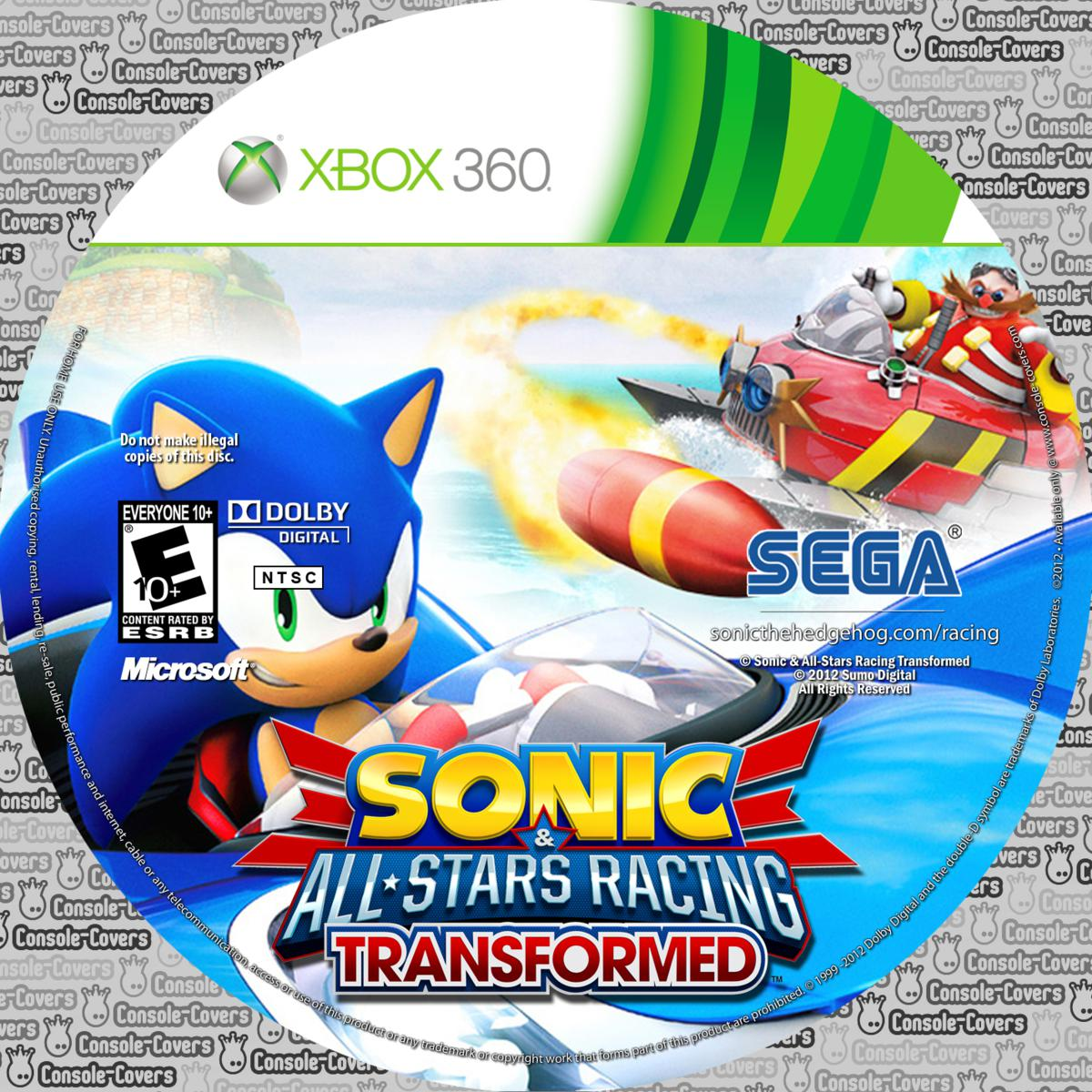 Label Sonic & All-Stars Racing Transformed Xbox 360