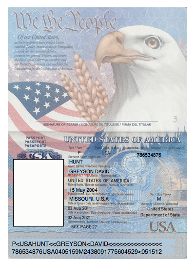 Domesticated nomad spy party passports for Us passport photo template