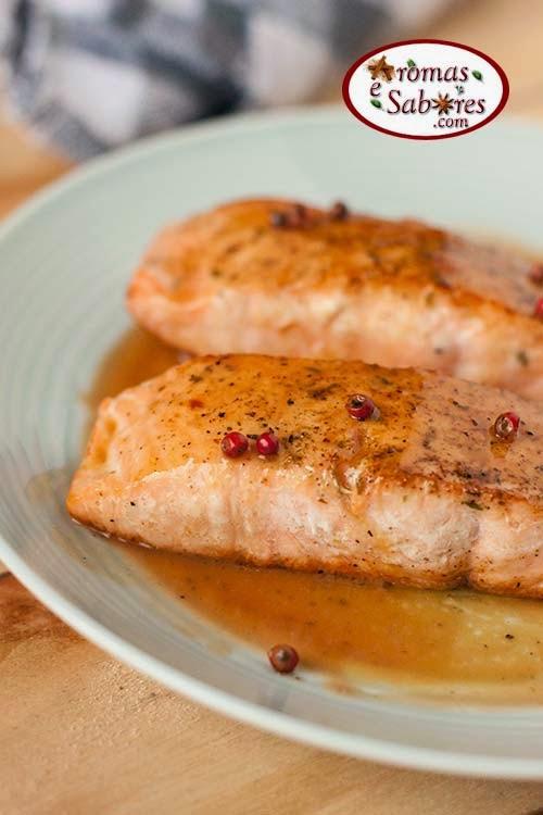 salmão com maracujá