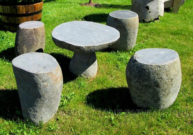 Stool River Stone / Batu Kali Size : Ø 30   45 X H. 45 Cm. Seat Garden  Megalithic