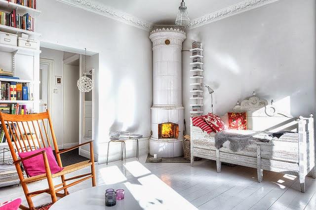 Pokój urządzony w stylistyce skandynawskiej
