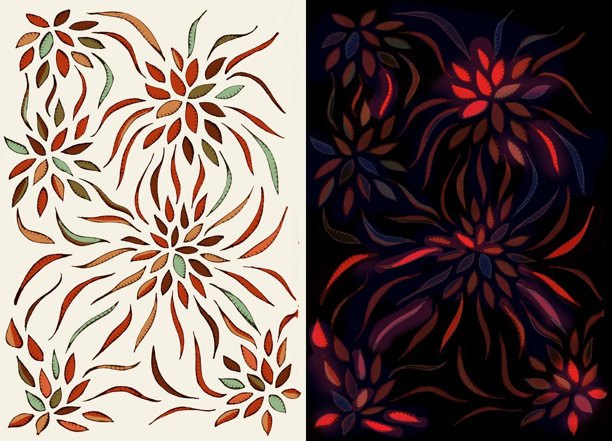New Home Textile Design Print Surface