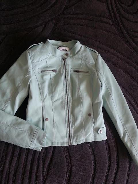 turquoise jacket vero moda