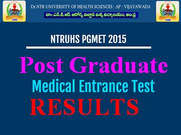 NTRUHS PGMET 2015 Results