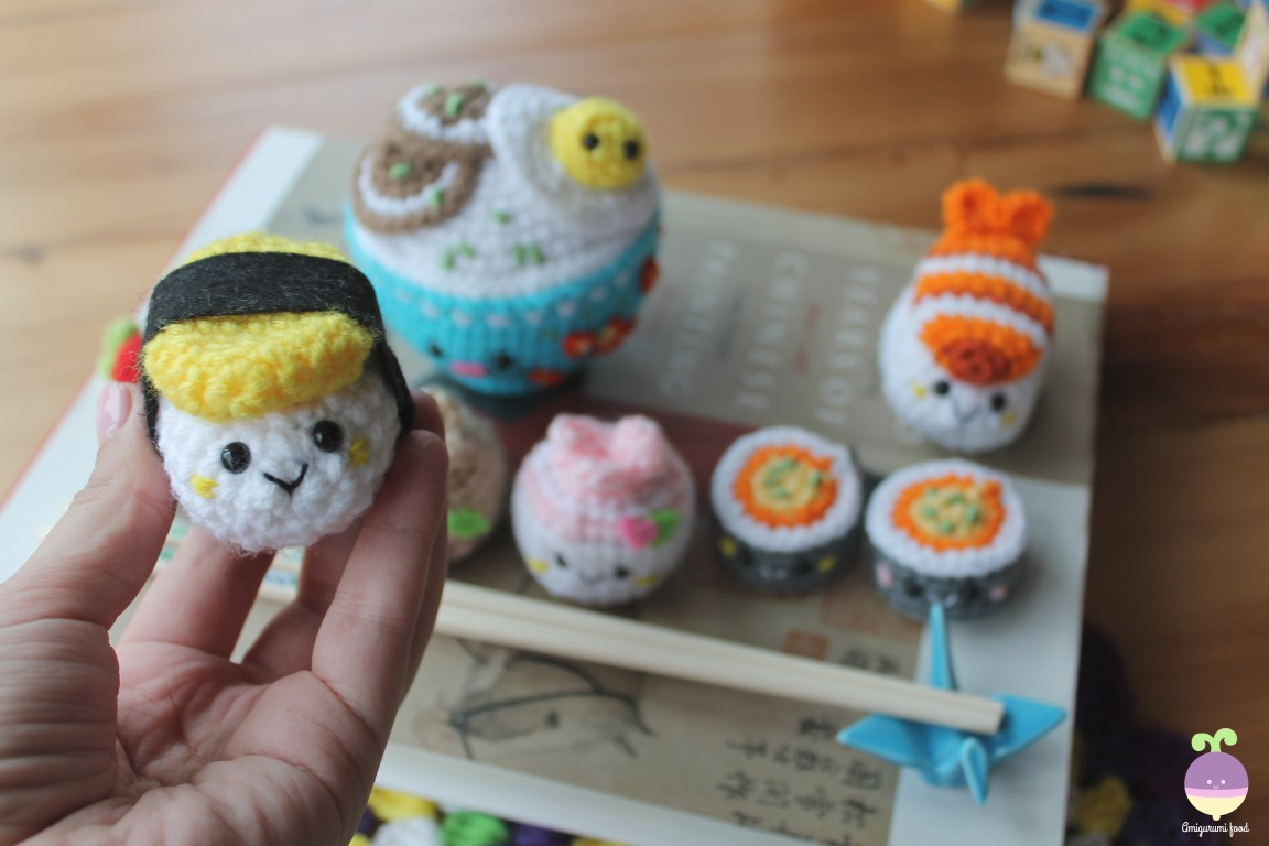 Amigurumi Food: New Crochet Pattern! Bento Family / Sushi set