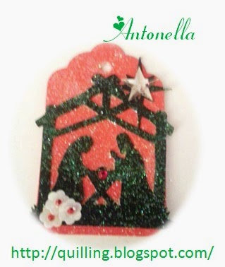 Silhouette Cameo Nativity Ornament from Antonella at www.quilling.blogspot.com