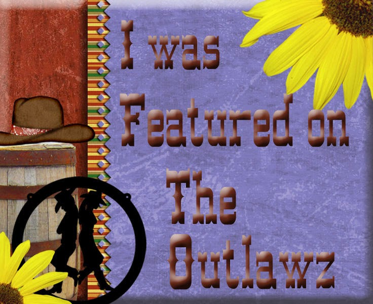 My Orange Poppies Easel card was featured at The Outlawz