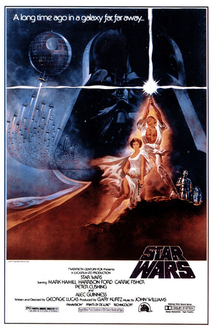 Original movie poster Star Wars movieloversreviews.blogspot.com