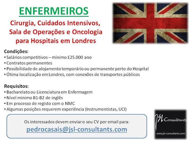 enfermeiros para trabalhar em Londres