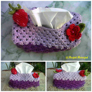 Crochet Tissue Cover Box, Kotak tissue rajut