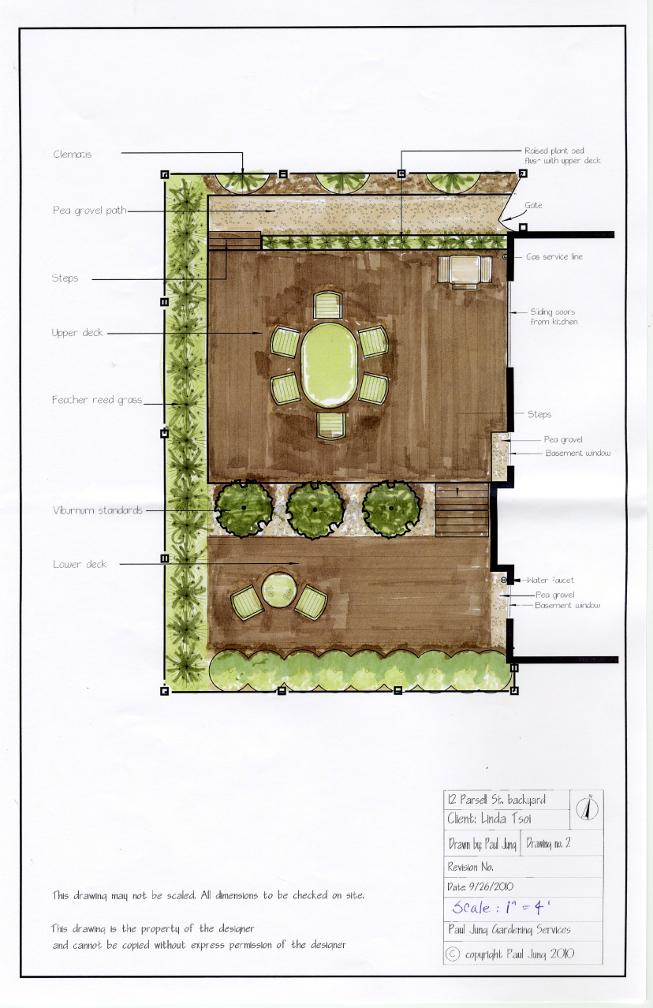 Paul Jung Gardening Services Toronto Tsoi backyard Dynascape landscape plan