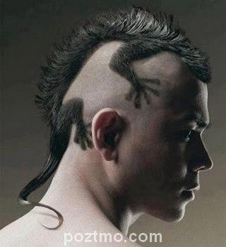 gaya rambut pria aneh