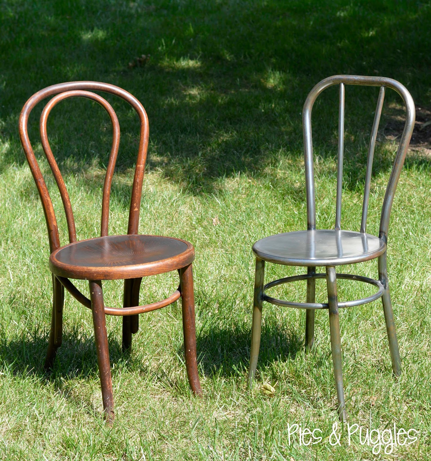 Charming DIY Painted Bentwood Chair