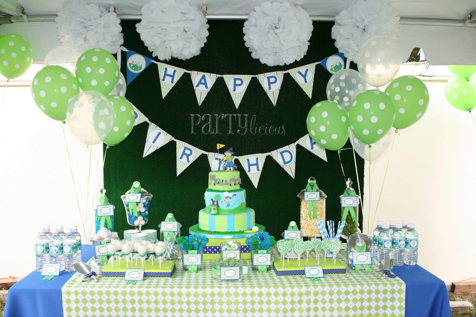 Partylicious: {Mauricios Golf Birthday Par-Tee}
